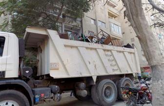 حملة لإزالة الإشغالات بكورنيش رأس البر والشوارع الرئيسية