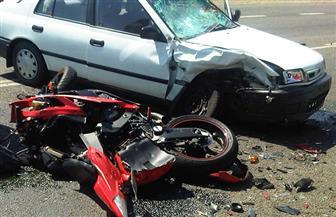 مصرع شخصين وإصابة 13 فى حادث مروري بالطريق الإقليمى بالعياط