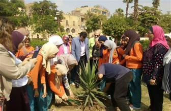 الاحتفال بيوم البيئة العربي في الحديقة الثقافية لتعليم الأطفال كيفية تدوير المخلفات | صور