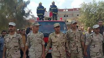 """تشييع جثمان """"أحمد عبدالحكم"""" شهيد الهجوم على كمين العريش بمسقط رأسه بالغربية"""