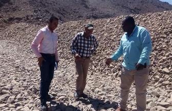 رئيس الإدارة المركزية للمياه الجوفية يتفقد السدود التي تقام لمواجهة السيول بالبحر الأحمر | صور
