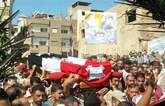"""""""مستقبل وطن"""" بدمياط يشارك في تشييع جنازة الشهيد عمر الشافعي بمسقط رأسه   صور"""