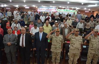 """تكريم 300 من أسر الشهداء والمصابين في احتفالية """"المحاربين القدماء"""" بالمنصورة  صور"""