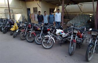 """ضبط تشكيل عصابي لسرقة الدراجات البخارية في """"بسيون"""" بالغربية   صور"""