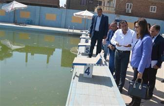 وزيرة التخطيط تتفقد حمام السباحة الأوليمبي بالأقصر.. وتؤكد توفير الدعم المادي له| صور