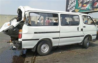 إصابة 12 عاملة في اصطدام ميكروباص بجرار زراعي بالعياط