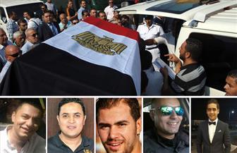 المصري يتقدم بالعزاء في شهداء الشرطة بحادث الواحات