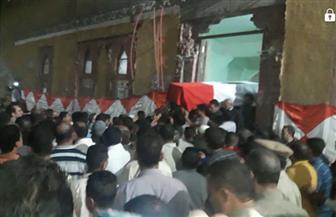 تشييع جنازة المقدم أحمد عبد الباسط شهيد الواحات من مسقط رأسه بالمنوفية | صور