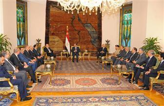 الرئيس السيسي يستقبل العبادي ويؤكد موقف مصر الداعم لوحدة العراق وسلامته الإقليمية