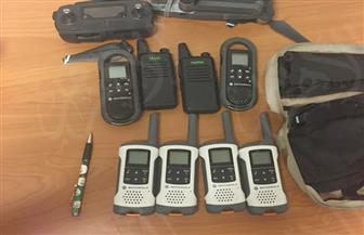 ضبط 9 أجهزة لاسلكي وطائرة تجسس مزودة بكاميرا فيديو مع راكب أوكراني بمطار الغردقة