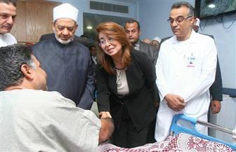 غادة والي تزور مصابي الشرطة بمعركة الواحات.. والمصابون: سنعود للثأر من الإرهابيين