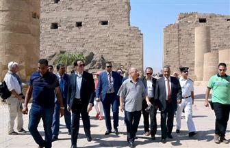 وزير الثقافة ونظيره التونسي في زيارة لمعابد الأقصر والكرنك | صور