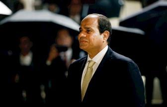 الرئيس السيسي يصل إلي مقر مجلس الشيوخ الفرنسي