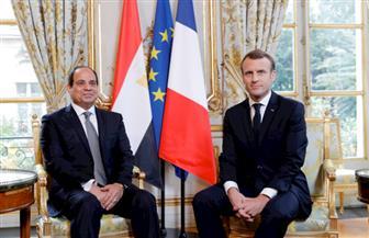 """بدء القمة """"المصرية - الفرنسية"""" بين الرئيسين السيسي وماكرون بقصر الإليزيه"""