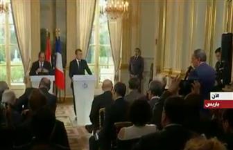 """ماكرون ردًا على سؤال لـ""""نقيب الصحفيين"""": نسعى لمنع ظهور حركات متطرفة في المنطقة بالتعاون مع مصر"""