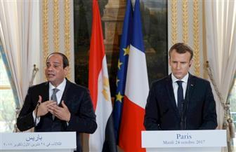 نص كلمة الرئيس السيسي خلال المؤتمر الصحفي المشترك مع نظيره الفرنسي بقصر الإليزيه