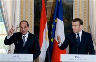 الرئيس السيسي خلال لقائه ماكرون: 2019 عامًا للثقافة والسياحة الفرنسية في مصر