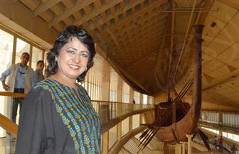 رئيسة موريشيوس تعرب عن سعادتها بزيارة مركب خوفو وبانوراما الأهرامات| صور