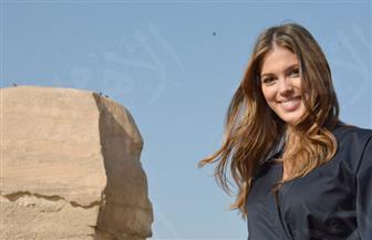 ملكة جمال الكون تزور بانوراما أهرامات الجيزة وأبو الهول |  صور
