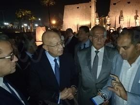 رئيس مجلس الوزراء يستمع لشرح تفصيلي عن أعمال ترميم وتطوير معبد الأقصر