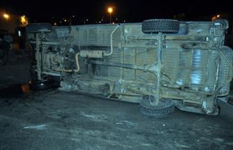 إصابة مواطنين في انقلاب سيارة بالبحيرة