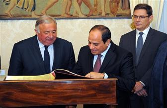 تفاصيل زيارة الرئيس السيسي مقر مجلس الشيوخ الفرنسي | صور