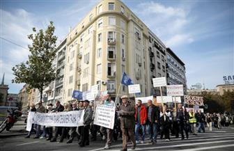أصحاب المعاشات في صربيا يتظاهرون للاحتجاج على خفضها