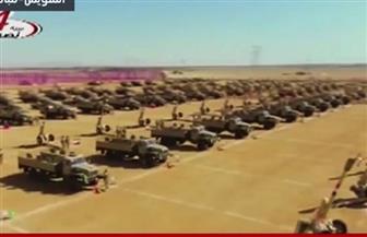 """الرئيس السيسي يشهد """"تفتيش حرب"""" أحد تشكيلات الجيش الثالث بالسويس"""