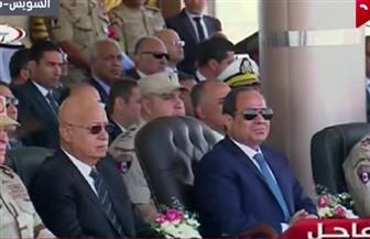 """الرئيس السيسي يصل مقر الجيش الثالث الميداني لمتابعة """"تفتيش حرب"""" الفرقة 19"""