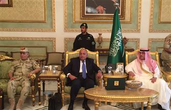 سامح شكري ومساعد وزير الدفاع يصلان إلى الرياض للمشاركة في اجتماع حول الأزمة اليمنية