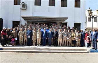 الفريق مميش يستقبل وفدًا من كلية الحرب العليا بأكاديمية ناصر العسكرية |صور