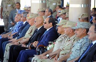 الرئيس السيسي يشيد بكفاءة الفرقة 19 مشاة | صور