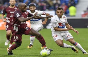 ليون يفوز على ميتز بهدفين نظيفين في الدوري الفرنسي