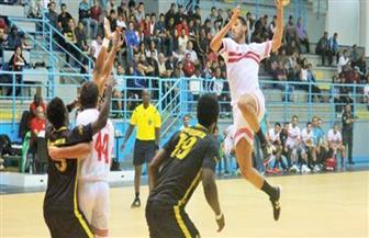 """""""يد الترجي"""" تتفوق على الزمالك 13 - 12 بالشوط الأول في نهائي بطولة إفريقيا للأندية"""