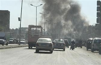 قوات الحماية المدنية تدفع بسيارتين لإطفاء حريق شارع بورسعيد | صور