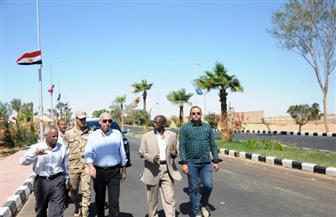 محافظ أسوان يتفقد استعدادات أبو سمبل لاحتفالية ذكرى اكتشاف معبدي رمسيس |صور