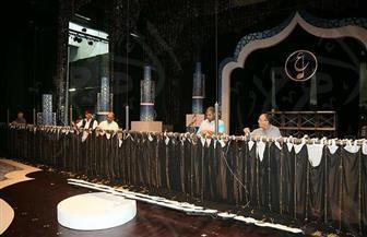 تجهيز ديكورات المسرح الكبير لحفل افتتاح مهرجان الموسيقى العربية   صور