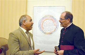 سفير ألمانيا بالقاهرة يفتتح معرض الفنان أحمد درويش بالكنيسة الإنجيلية   صور