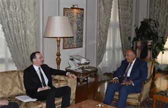 شكري يلتقي مبعوث الرئيس الأمريكي للتحالف الدولي ضد داعش ويثمنان انتصارات الجيش العراقي