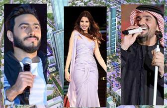 تامر حسني ونانسي عجرم وحسين الجسمي في احتفالات أكتوبر بالعاصمة الإدارية الجديدة