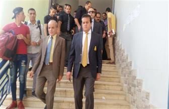 وزير التعليم العالي يزور معهد العلوم الإدارية بالمقطم للوقوف على مستوى الخدمة التعليمية|صور
