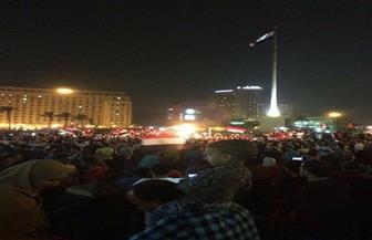 ميدان التحرير يمتلئ من جديد احتفالا بصعود مصر الي كأس العالم