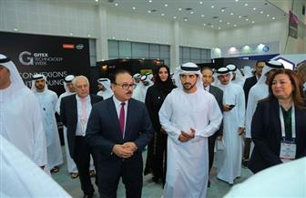 وزير الاتصالات يستقبل ولي عهد دبي بمعرض جيتكس الدولي | صور