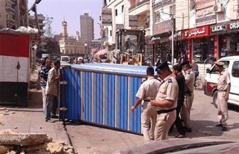 حملة لإزالة الإشغالات بحي شرق المنصورة | صور