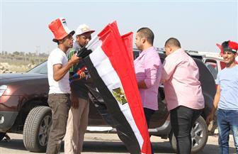 علم مصر يرفرف في كل مكان داخل الإسماعيلية