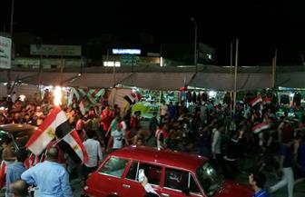 خروج المئات من أهالي سيناء للشوارع للاحتفال بفوز المنتخب الوطني