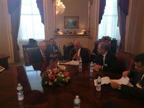 """""""عبد العال"""" يلتقي بالرئيس المناوب لمجلس الشيوخ الأمريكي"""