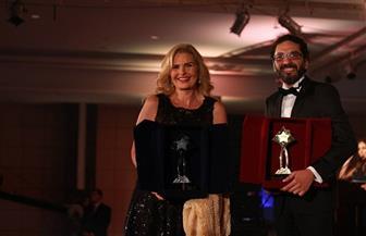 """يسرا لـ""""بوابة الأهرام"""": سعيدة بتكريمي في حفل الأهرام.. واندهشت من جائزة أفضل ابتسامة"""