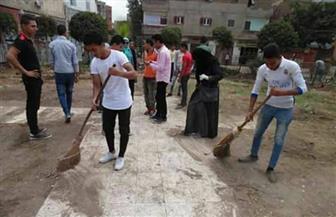حملة شبابية لنظافة الشوارع والميادين ودهان الأرصفة بمدينة الحامول بكفرالشيخ | صور
