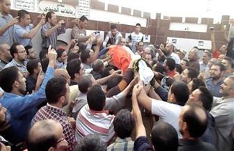 تشييع جثمان الشهيد النقيب محمود الجندي بمسقط رأسه بميت غمر | صور